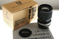 Nikon Zoom-Nikkor 35-105mm f/3.5-4.5 lens. EXC+ boxed condition.+manual.