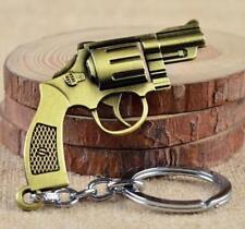 Creative Vintage Copper Simulation Pistol Gun Keyring Keychain Key Chain Ring S