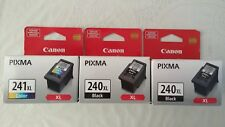 Genuine CANON 3-Pack, (2) PG-240XL Black and (1) CL-241XL Color, New-in-Box