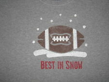 LIFE IS GOOD MEN'S S/S BEST IN SNOW  FOOTBALL T- SHIRT  SIZE L