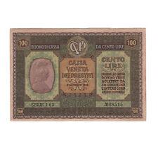 CASSA VENETA DEI PRESTITI - Banconota da lire 100 Serie I05 - NON TRATTATA MSPL