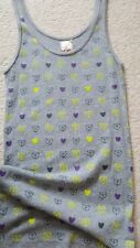 Grey with heart detail, Vest Top, size 10, BNWT