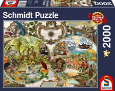 Exotic World Map 2000 Piece Schmidt Jigsaw Puzzle NEW