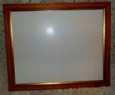"Custom rustic reddish brown wood frame, copper accent, 14 3/4"" x 18 1/2"", glass"