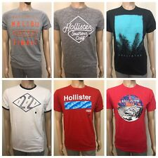 NWT Hollister by Abercrombie Graphic Tee Shirt You Pick Color & Sz S or L