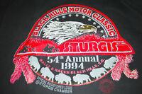 Sturgis Black Hills T Shirt Vintage Size Medium Motorcycle Rally Mens Biker Vtg