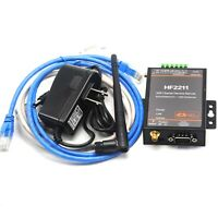 RS232 RS485 RS422 To WIFI Ethernet RJ45 Serial Conversion Server Antenna HF2211