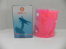 NIB Click Heat Instant Baby Bottle Warmer Reusable Portable- Pink