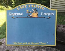Vintage Hand Painted Greeting Cards Store Advertising Sign POSTA-CRAFT Displays