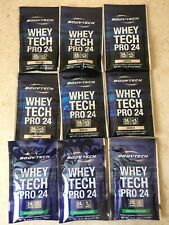 Bodytech Whey Tech Pro 24: 9 Packets: 3 Choc Mint (6/7/19) 6 Mocha (12/4/19)