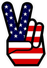 #593 Peace Sign Hand Hippy 60's 70's No War Hippie Decal Sticker