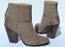 Rag and Bone Newbury Grey Gray Ankle Bootie Boots Size 38 / 8
