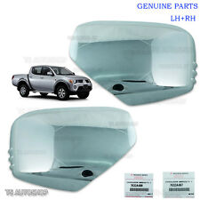 LH RH Chrome Mirror Side Cover Genuine OEM For Mitsubishi L200 Triton 06 - 14