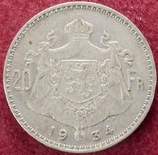 Belgium 20 Francs 1934 (D2007)