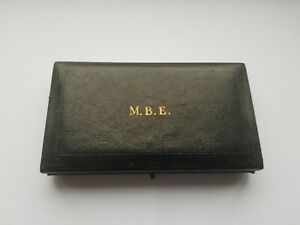 MEMBER OF THE MOST EXCELLENT ORDER BRITISH OF THE EMPIRE,MBE MEDAL CASE