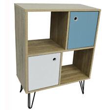 Open Sideboard Shelving / LP Vinyl Storage with Cupboards - Oak OF9770