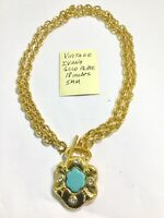 Vintage Ivana Gold Plate Necklace 18 Inches 5mm