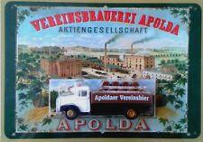 APOLDA GERMAN BEER 1 X METAL SIGN TIN TACKER WITH 1 X PICK-UP NEW + TOP
