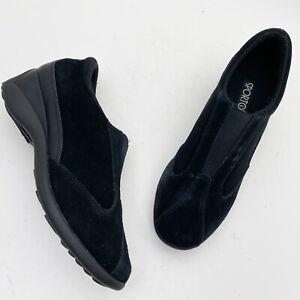 SPORTO Marci Black Suede Wedge Booties - Size 7.5W