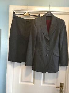 Principles Grey Skirt Suit Work Size 10