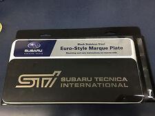 Genuine OEM Subaru Euro Style STI Marque Plate Matte Black SOA342L133 NEW WRX