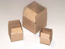 Dollhouse Miniatures, Brown Packing or Shipping Cartons, Set of Three