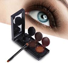 New 3 Colors Eyeliner Gel Cream Palette With Brush Long Lasting Eyes Makeup Tool