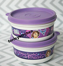 Tupperware Disney Princess  Sofia The First Snack Cup Bowl 7oz (2) New