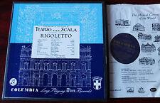 COLUMBIA 33CX 1324/6 VERDI RIGOLETTO 3-LP CALLAS SERAFIN EX+ BLUE/GOLD SEMI