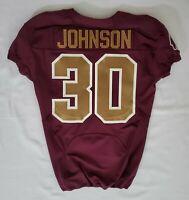 #30 Johnson of the Washington Redskins NFL Alternate Game Issued Jersey