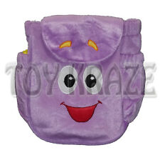 "DORA THE EXPLORER MR. FACE PLUSH BACKPACK! PURPLE SOFT BAG GIRLS 9"" NEW"