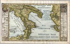 Italia-Italien-Italy - Karte-Map Bodenehr um 1710