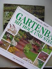 2 Bücher Faszination Gartenteich + Gartenbau mit Holz und Stein