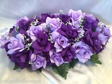 Wedding Head Table Centerpiec Lavender Purple  Bridal Bouquet can be made match