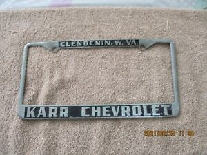 USED KARR CHEVROLET DEALERSHIP LICENSE PLATE FRAME