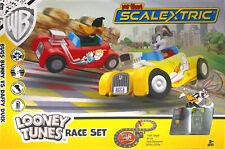 2019 Micro Scalextric Looney Tunes G1141T Ho 1:64 Slot Car Race Set Bat. Powered