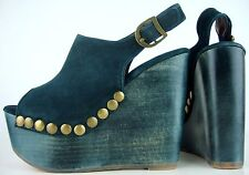 JEFFREY CAMPBELL SNICK STUD Platform Sandals Damen Plateau Schuhe Leder Gr40 NEU