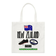 Rugby New Zealand Small Tote Bag - Funny League Union Flag Shoulder