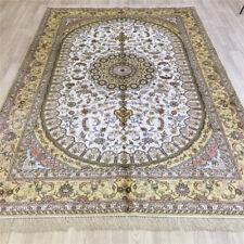 YILONG 6'x9' Handwoven Silk Carpet Home Decoration Oriental Rug L077C