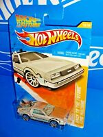 Hot Wheels New Models #18 Back To The Future Time Machine DeLorean Silver