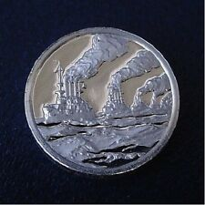 "1908 ""Great White Fleet"" World Cruise ~ Franklin Mint STERLING SILVER Mini-Ingot"