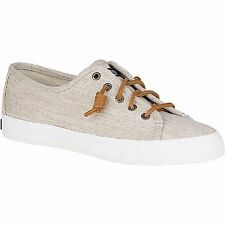 SPERRY 'Seacoast' Linen Natural Lace-To-Toe Sneaker Ladies  Sz. 9.5 M  NIB