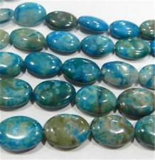 "13x18mm blue crazy Agate egg loose Beads 15""##QF554"