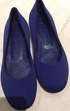 MARNI WOMENS CERULEAN BLUE ROUND TOE BALLET PUMPS SHOES FLATS - UK 5 / 38 NEW