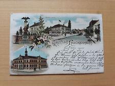 HOCKENHEIM: farbige 3 - Bild Litho AK, gelaufen 1897