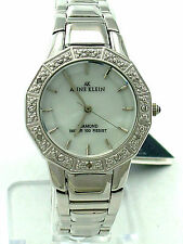 ANNE KLEIN 8673MPSV Mother of Pearl Dial 6 Diamonds on Bezel S/Steel Band $125