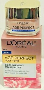 L'Oreal Age Perfect Rosy Tone Cooling Night Moisturizer 1.7 oz MATURE, DULL SKIN