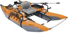 1-Person Inflatable Fishing Boat Pontoon XT Lake Water Raft Paddle Oars Orange