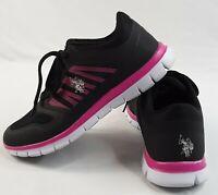 U.S. Polo Assn. Athletic Shoes - Women's Size 8 Sneakers Black Fuchsia