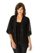 Quiz Black Chiffon Embellished Kimono Size Small (UK 8/10) Box44 02 A